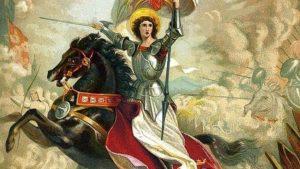 Pintura de Juana de Arco